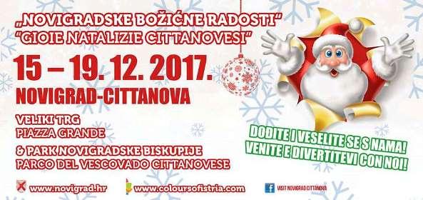 Novigradske božićne radosti - Božićni sajam u šatoru, koncerti i adventska gastro-ponuda u parku