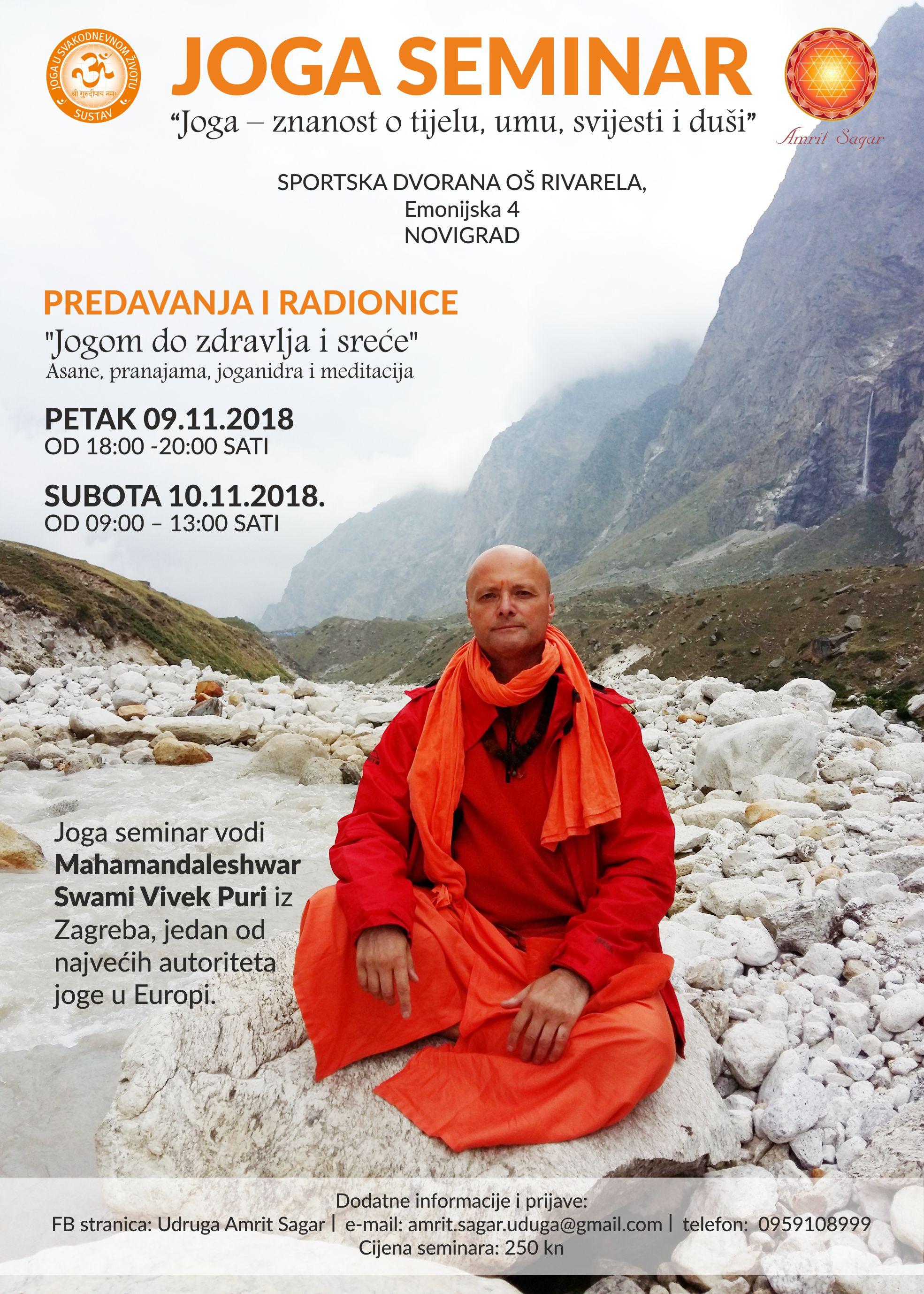 """Joga seminar - Predavanja i radionice """"Jogom do zdravlja i sreće"""""""