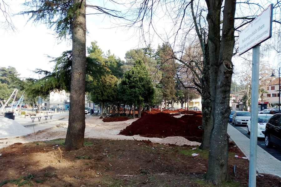 U Novigradu se temeljito preuređuje Park novigradskih ribara