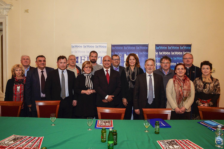 Alessandro Zehentnr,Elisabetta Gardini, Maurizio Tremul con Orietta Mariot, Marin Corva